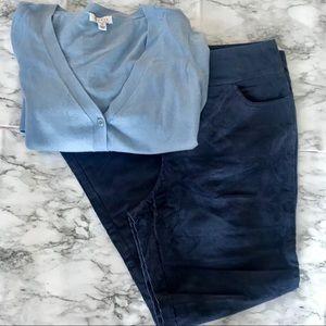 New Denim & Co. Straight Leg Corduroy Pants